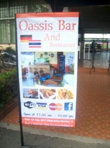 Oasis Bar, Reklame beim Fußball