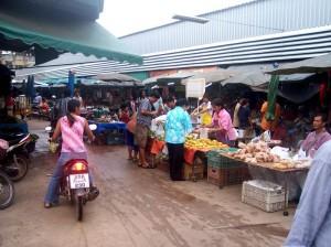 Hauptmarkt in der Stadt